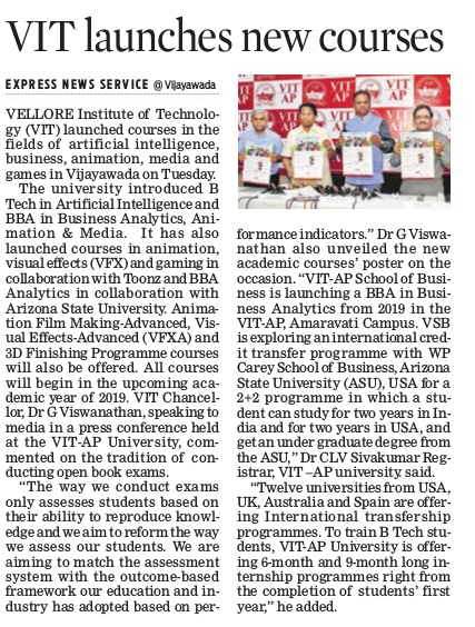 VIT-AP takes digital step with new course
