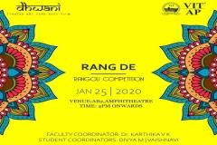 Dhwani - Rang De (Rangoli Competition)
