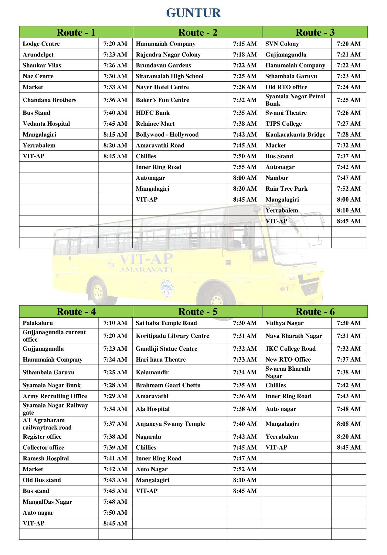 bus route 2019-20